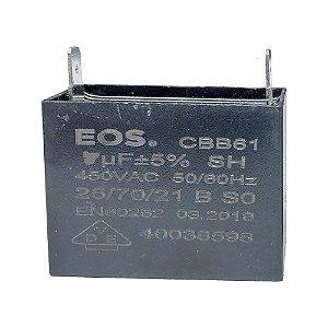 Capacitor caixa  6 MFD 450V