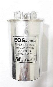 Capacitor duplo permanente 30+1.5 MFD 380V D124651