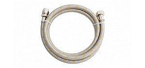 Mangueira flexível inox para gás com adaptador ROSCA 1/2 1,50m