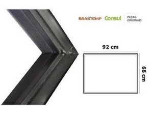 Gaxeta freezer consul cinza escuro 68x92cm W10367623