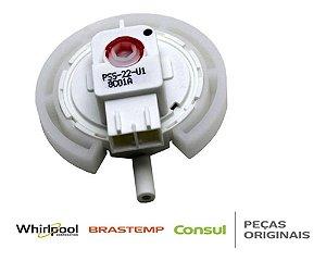 Sensor de nivel agua lavadora e secadora brastemp W10256239