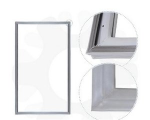 Gaxeta refrigerador consul/brastemp encaixe 157X56 326001585 - Gaxeta refrigerador consul/brastemp encaixe aba dura 157X56 326001585