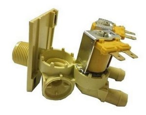 Valvula de entrada de agua lavadora 2 vias 127v brastemp w10706137