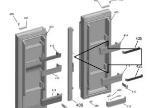 Cj batente movel refrigerador bratemp inverse branco W10628291