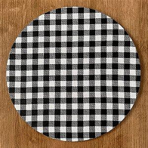 Sousplat Gorgurinho xadrez preto branco