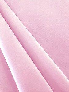 Tecido Tricoline liso rosa bebê