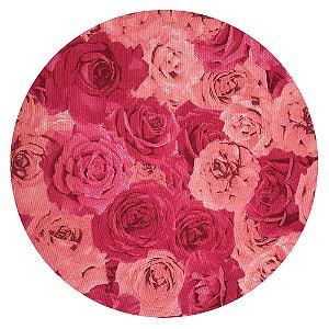 Sousplat Jacquard flores rosas