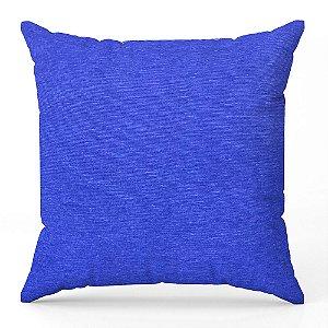 Capa de almofada Jacquard liso azul anil