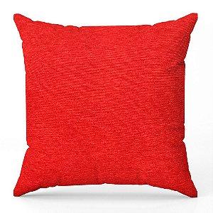 Capa de almofada Jacquard liso vermelho