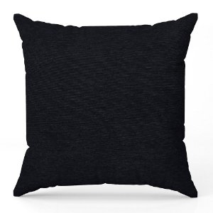 Capa de almofada Jacquard liso preto