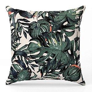 Capa de almofada Jacquard folhas Costela De Adão