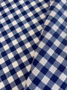 Tecido Gorgurinho Xadrez Azul Branco