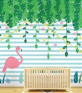Painel Adesivo - Flamingo