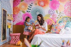 Painel Adesivo - Flores e Borboletas