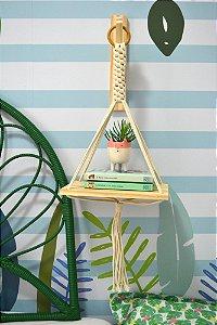 Hanger com 1 Prateleira e suporte em madeira