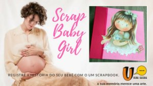 Scrapbook Baby Girl I - Scrapbook para Meninas