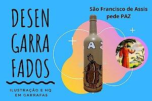 Garrafa Ilustrada: São Francisco de Assis pede paz