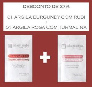 Desconto Argila Burgundy com Rubi + Argila Rosa com Turmalina