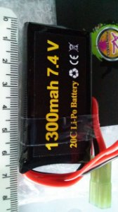 Bateria Lipo 7.4v/1300mah/20c