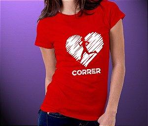 """PRÉ-VENDA Baby Look EXCLUSIVA """"Amo Correr"""""""