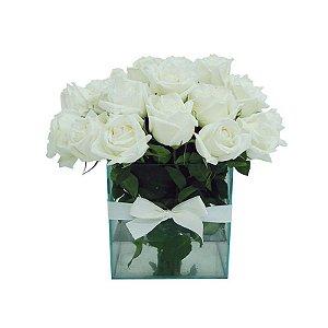 Arranjo de Rosas Brancas Emoções