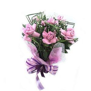 Buque Rosas Importadas Lílas ( 6 )