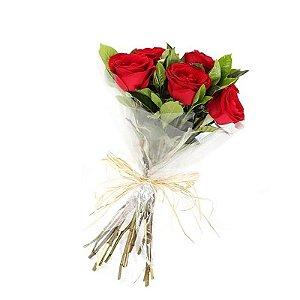 Buquê Rosas Importadas Vermelhas ( 6 )
