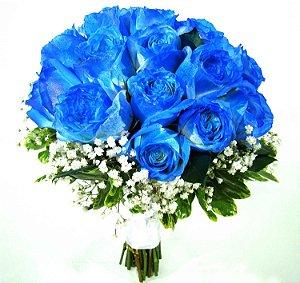 Buque de 12 Rosas Azuis