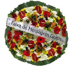 Coroa de Flores Carinho - Coroa de Flores para Velório