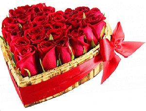 Coração Apaixonado de Rosas Vermelhas
