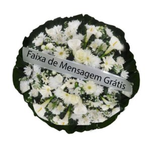 Coroa de Flores Pombinha Branca
