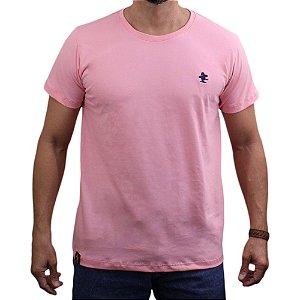 Camiseta Sacudido's - Básica - Rosa -Marinho