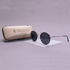 Óculos Sacudido´s - Metal Redondo -Niquel-Preto 2