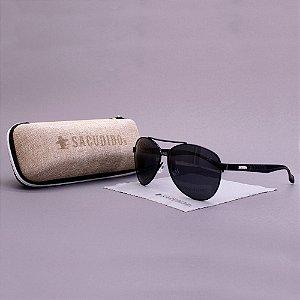 Óculos Sacudido´s - Aviador - Preto - Haste Trabalhada