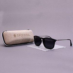 Óculos Sacudido´s - Preto Fosco Liso -Metal