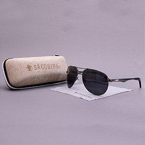 Óculos Sacudido´s - Aviador - Preto -Haste Detalhe