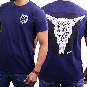 Camiseta Sacudido's - Cabeça de Boi - Marinho