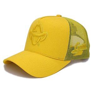 Boné Sacudido's - Logo Estilizado - Amarelo