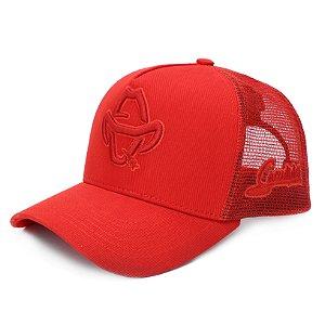 Boné Sacudido's - Logo Estilizado - Vermelho