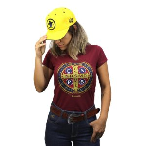 Camiseta Sacudido's Feminina - São Bento - Rubi