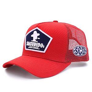 Boné Sacudido´s - Trucker Logo Frente - Vermelho