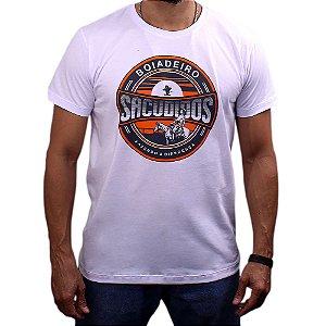 Camiseta Sacudido's - Boiadeiro - Branco