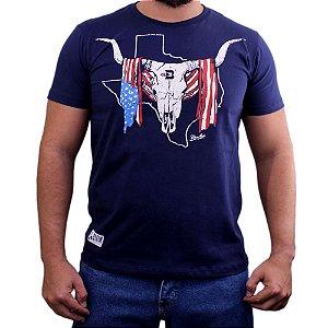 Camiseta Bão Nu Mundo - Caveira Boi - Marinho