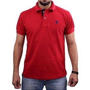 Camiseta Polo Sacudido's - Vermelho-Marinho