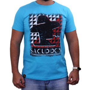 Camiseta Sacudido's - Logo - Azul Paradise