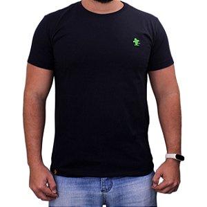 Camiseta Sacudido's - Básica - Preto-Verde Limão