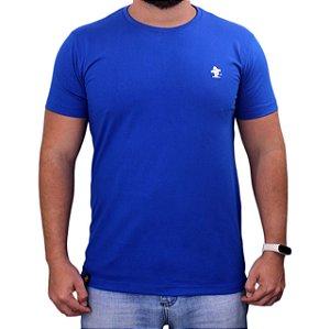 Camiseta Sacudido's - Básica - Royal-Branco