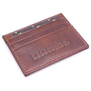 Porta Cartão Couro Sacudido's- 683 - Látego Pinhão