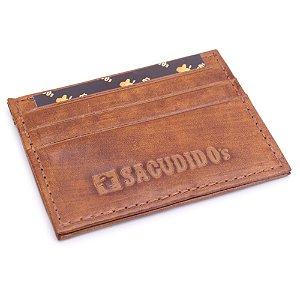 Porta Cartão Couro Sacudido's - 683-1 - Lát Whisky