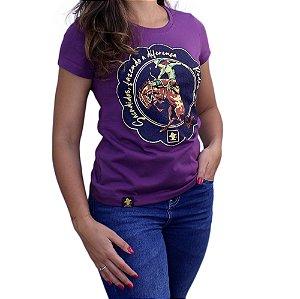 Camiseta Sacudido's Feminina - Rodeio - Roxo Maxis